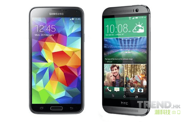 HTC One (M8)、Samsung Galaxy S 5 今天正式賣街