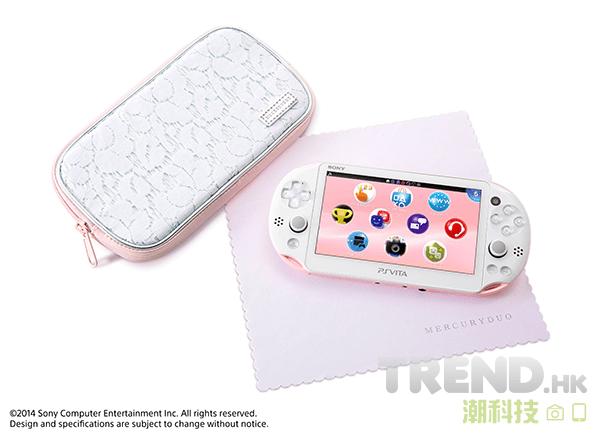 淡粉紅/白 PlayStation Vita 11 月發售,預訂送限量 MERCURYDUO 特製小袋